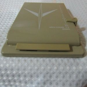 Other - Vintage Metal Address  Book  -almond color - Like